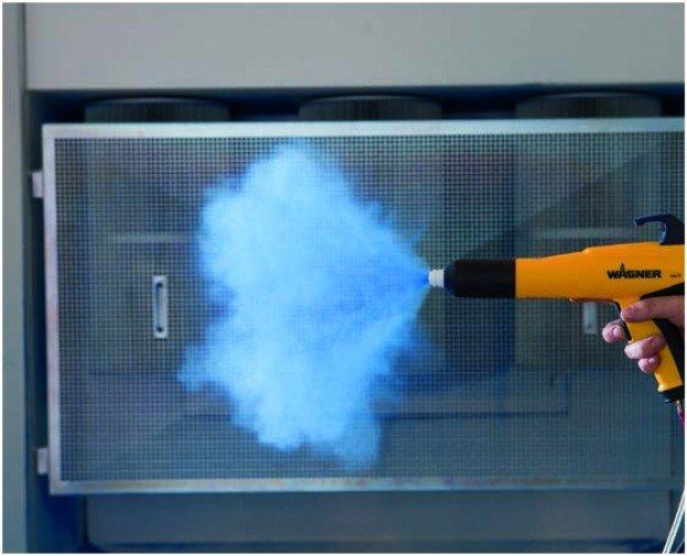 Powder Coating Gun Overspray