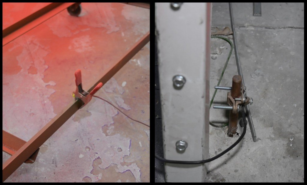 Clamp And Copper Grounding Rod For Powder Coating