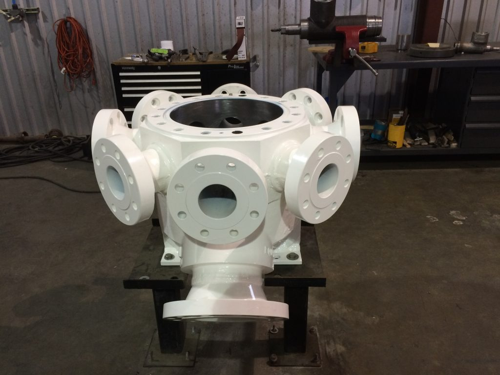 Pump Casting With Powder Coated Finish