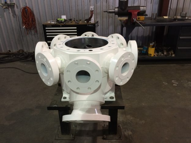 Powder Coated Pump Casting