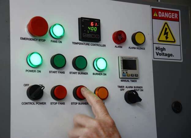 Batch Powder Curing Oven Control Panel