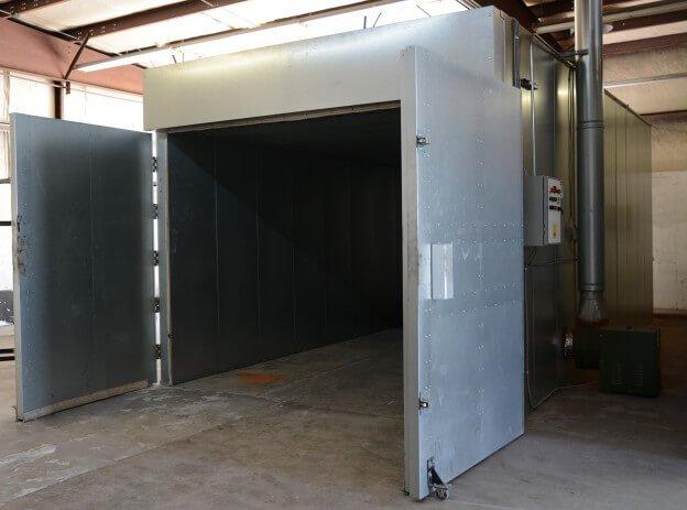 Batch Powder Curing Oven - Doors Open