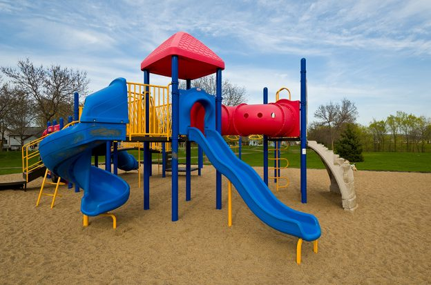 Playground Equipment With Powder Coated Parts