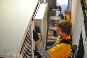 installing coating oven