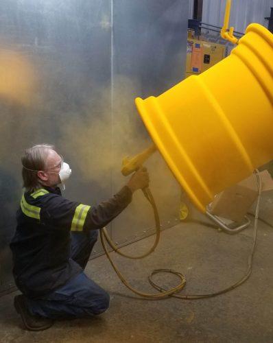 Powder Coating Yellow Wheels