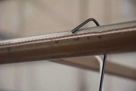 hook on clean metal rack